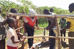 The Water Project: Rwentale-Kyamugenyi Community -  Pump Installation