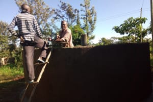 The Water Project: Iyenga Primary School -  Tank Construction