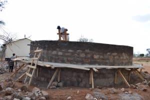 The Water Project: Ikaasu Secondary School -  Tank Construction