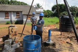 The Water Project: Benke Community, Waysaya Road -  Flushing The Well