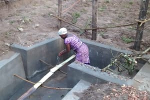 The Water Project: Abangi-Ndende Community -  Cement Drying