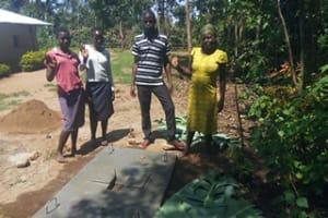 The Water Project: Kakubudu Community, Fred Lagueni Spring -  Sanitation Platform