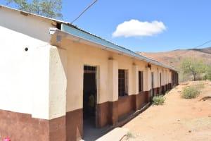 The Water Project: Kivani Primary School -  Tank Guttering