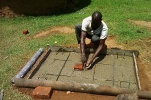 The Water Project: Matsakha A Community, Kombwa Spring -  Sanitation Platform Construction