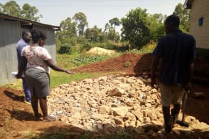 The Water Project: El'longo Secondary School -  Tank Construction