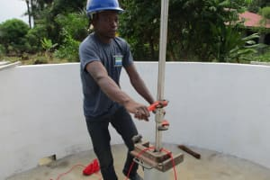 The Water Project: Benke Community, Waysaya Road -  Pump Installation