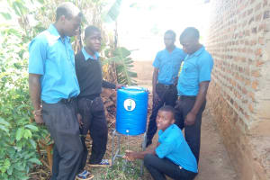 The Water Project: El'longo Secondary School -  Hand Washing Station