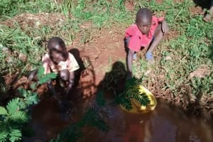 The Water Project: Ivulugulu Community, Ishangwela Spring -  Current Water Source