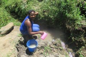 The Water Project: Futsi Fuvili Community, Simeon Shimaka Spring -  Current Water Source