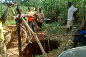 The Water Project: Rubona Kyagaitani Community -  Excavation