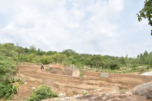 The Water Project: Mitini Community -  Finished Sand Dam