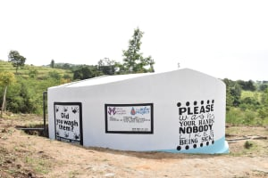 The Water Project: Ilinge Primary School -  Finished Tank