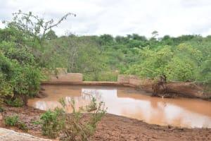 The Water Project: Katuluni Community -  Finished Sand Dam