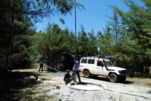 The Water Project: Chepkemel Community -  Pump Installation