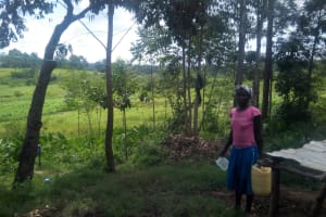 The Water Project: Musango Community, M'muse Spring -  Going To Fetch Water