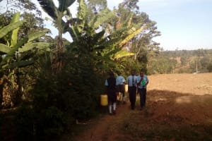 The Water Project: Muyere Secondary School -  Students Going To Fetch Water