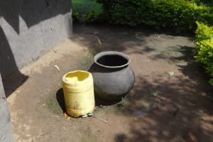 The Water Project: Elukuto Community, Isa Spring -  Water Containers