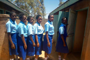 The Water Project: St. Mary's Girl's High School -  Latrines