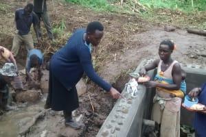 The Water Project: Karongo-Dum Community -  Construction