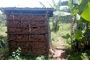 The Water Project: Wasenje Community, Margaret Jumba Spring -  Latrine