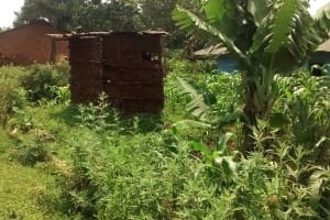 The Water Project: Elukani Community, Ongari Spring -  Latrine By A Farm