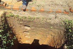 The Water Project: Kakubudu Community, Fred Lagueni Spring -  Pit Latrine
