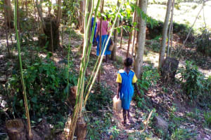 The Water Project: Chebunaywa Primary School -  Carrying Water
