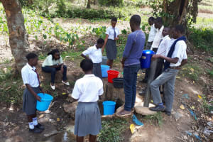 The Water Project: Imbale Secondary School -  A Current Water Source