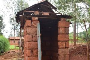 The Water Project: Kathuni Community A -  Latrine
