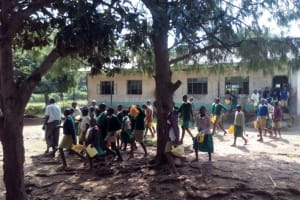 The Water Project: Esibeye Primary School -  Students Going Out To Find Water