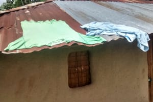 The Water Project: Elukani Community, Ongari Spring -  Clothes Drying