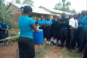 The Water Project: El'longo Secondary School -  Hand Washing Training