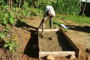 The Water Project: Kakubudu Community, Fred Lagueni Spring -  Sanitation Platform Construction
