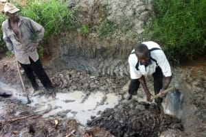 The Water Project: Luyeshe Community, Simwa Spring -  Excavation