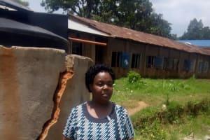 The Water Project: Shikhondi Girls Secondary School -  Principal At The Plastic Tank