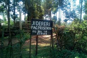 The Water Project: Jidereri Primary School -  School Sign