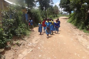 The Water Project: Masera Community, Salim Hassan Spring -  Students Coming Home To Eat Lunch