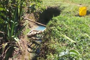 The Water Project: Matsakha Community, Mbakaya Spring -  Current Water Source