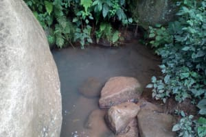 The Water Project: Muraka Community, Peter Itevete Spring -  Current Water Source