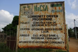 The Water Project: Kasongha Community, Maternal Child Health Post -  Clinic Sign