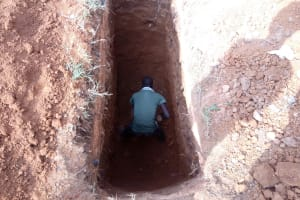 The Water Project: Madivini Primary School -  Latrine Pit