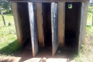 The Water Project: St. Stephen Maraba Secondary School -  Latrines