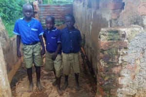 The Water Project: Shina Primary School -  Urinal With Bare Feet