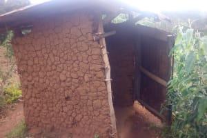 The Water Project: Mwituwa Community, Nanjira Spring -  Latrine
