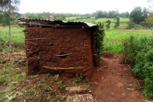 The Water Project: Burachu B Community, Shitende Spring -  Latrine