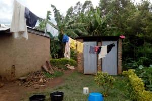 The Water Project: Muraka Community, Peter Itevete Spring -  Latrine