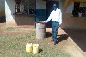 The Water Project: Kenneth Marende Primary School -  The Rusty Water Barrel