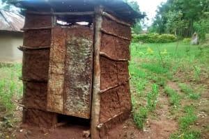 The Water Project: Jivovoli Community, Gideon Asonga Spring -  Latrine