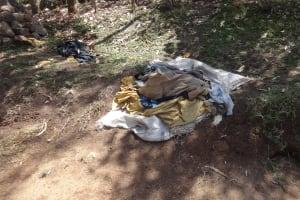 The Water Project: Ingavira Community, Laban Mwanzo Spring -  Clothes Drying