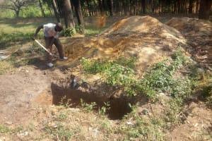The Water Project: Eshisiru Secondary School -  Latrine Pit